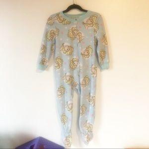 DISNEY Frozen Elsa Fleece Footed Pajamas Zip Up